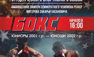 Первенство РССС по боксу памяти З.Х.Мигерова
